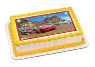 CARS 4 Edible Birthday Cake Topper OR Cupcake Topper, Decor