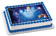 Cinderella 3 Edible Birthday Cake Topper OR Cupcake Topper, Decor