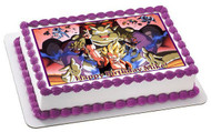 Dragon Ball Z Edible Birthday Cake Topper OR Cupcake Topper, Decor