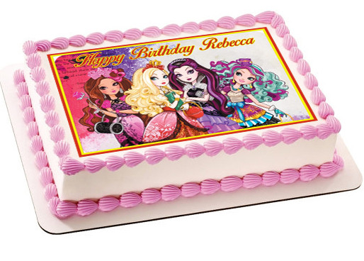Ever After High 2 Edible Birthday Cake Topper