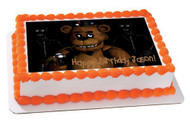 Five Nights at Freddy's 5 Edible Birthday Cake Topper OR Cupcake Topper, Decor