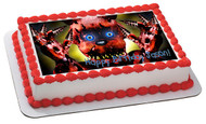 Five Nights at Freddy's 6 Edible Birthday Cake Topper OR Cupcake Topper, Decor