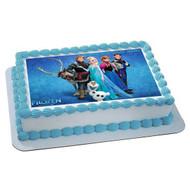 FROZEN 3 Edible Birthday Cake Topper OR Cupcake Topper, Decor