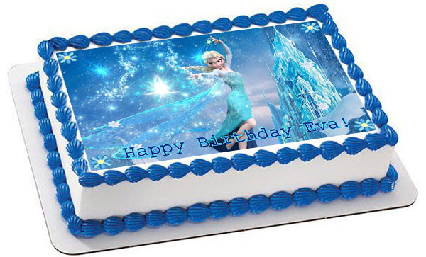 Elsa Cake Decoration Ideas : Frozen Elsa Edible Birthday Cake Topper