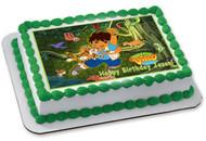 Go Diego Go Edible Birthday Cake Topper OR Cupcake Topper, Decor
