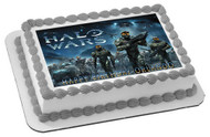 HALO WARS 1 Edible Birthday Cake Topper OR Cupcake Topper, Decor