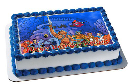 He Man And The Masters Edible Birthday Cake Topper