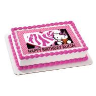 Hello Kitty and Bear Edible Birthday Cake Topper OR Cupcake Topper, Decor