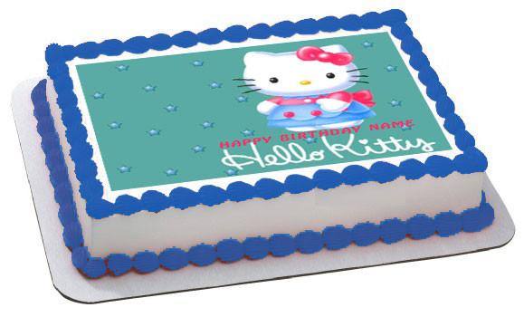 Hello Kitty Character 2 Edible Birthday Cake Topper