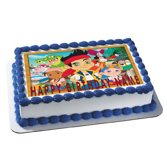 Jake and The Neverland Pirates Edible Birthday Cake Topper