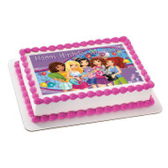 Lego Friends Edible Birthday Cake Topper OR Cupcake Topper, Decor
