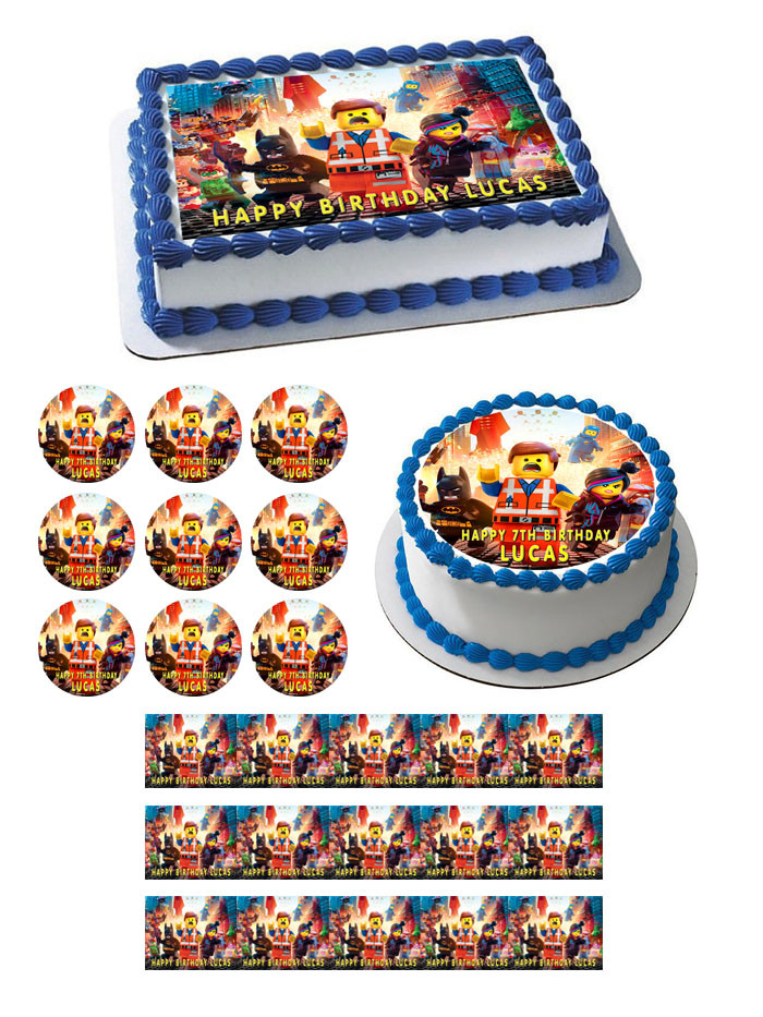 Lego Movie Edible Birthday Cake Topper