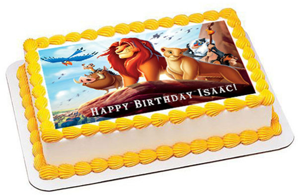 Edible Cake Images Lion King : Lion King 1 Edible Birthday Cake Topper