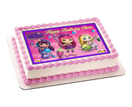 Little Charmers Edible Birthday Cake Topper OR Cupcake Topper, Decor