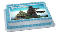 MINECRAFT Characters 4 Edible Birthday Cake Topper OR Cupcake Topper, Decor