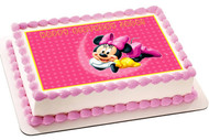 Minnie Mouse Edible Birthday Cake Topper OR Cupcake Topper, Decor