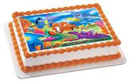 NEMO 1 Edible Birthday Cake Topper OR Cupcake Topper, Decor