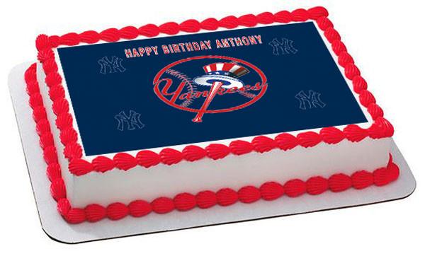 New York Yankees 1 Edible Birthday Cake Topper