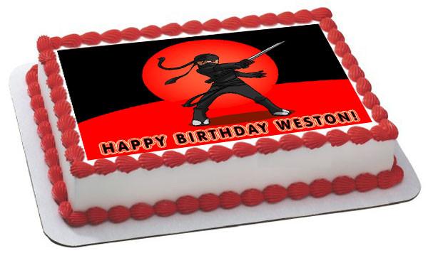 Ninja Edible Birthday Cake Topper