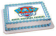 Paw Patrol 4 Edible Birthday Cake Topper OR Cupcake Topper, Decor