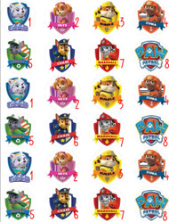 Paw Patrol Family Edible Birthday Cake Topper OR Cupcake Topper, Decor