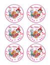 "Edible Cupcake Toppers - 3.25"" cupcake (6 pieces/sheet)"