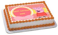 Peppa Pig 1 Edible Birthday Cake Topper OR Cupcake Topper, Decor