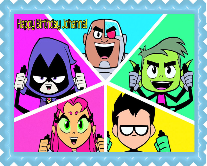Printable Cake Toppers Of Teen Titans
