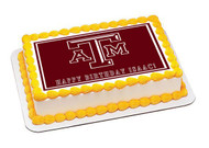 Texas A&M University 1 Edible Birthday Cake Topper OR Cupcake Topper, Decor