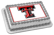 Texas Tech University 2 Edible Birthday Cake Topper OR Cupcake Topper, Decor