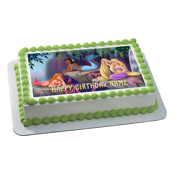 The Little Mermaid Edible Birthday Cake Topper