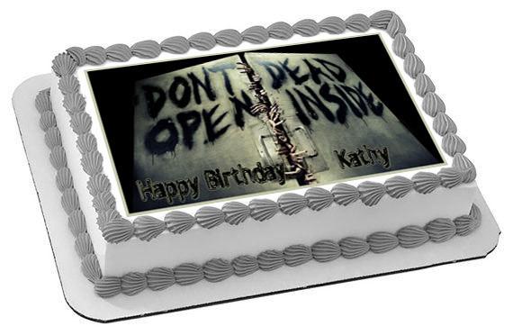 the walking dead 2 edible birthday cake topper