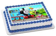 Thomas Train 1 Edible Birthday Cake Topper OR Cupcake Topper, Decor