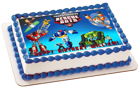 Transformers Rescue Bots 1 Edible Birthday Cake Topper