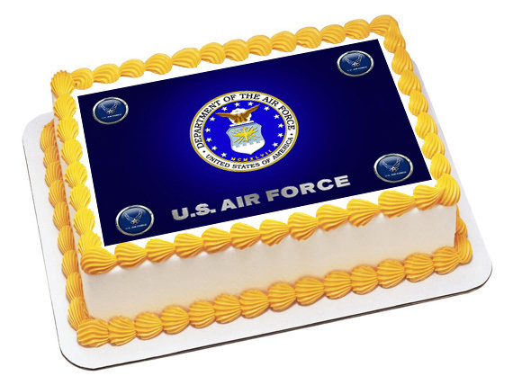 Edible Cake Images Air Force : US Air Force Edible Birthday Cake Topper