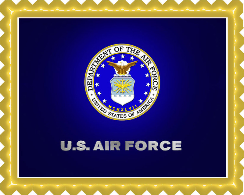 Us air force edible birthday cake topper for Decor 6 air force