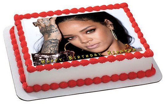 Rihanna Edible Birthday Cake Topper