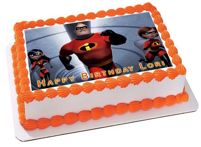 Incredibles 2 Edible Birthday Cake Topper