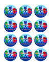 "Edible Cupcake Toppers - 2"" cupcake (12 pieces/sheet)"