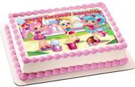 Cute Shopkins Shoppies Edible Birthday Cake Topper OR Cupcake Topper, Decor