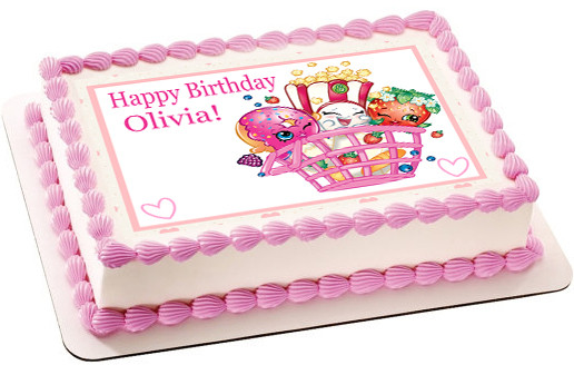 Shopkins 2 Edible Birthday Cake Topper