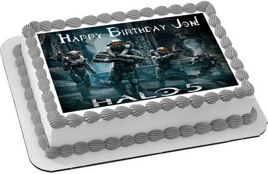 Halo 5 Guardians Edible Birthday Cake Topper