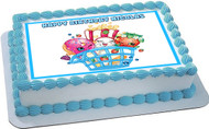 SHOPKINS 3 Edible Birthday Cake Topper OR Cupcake Topper, Decor