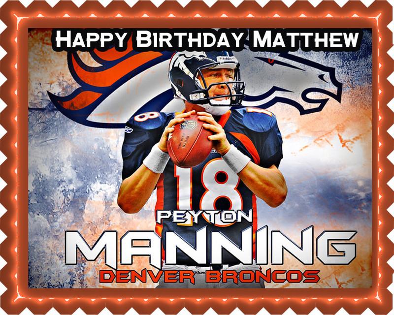Denver Broncos Cake Topper