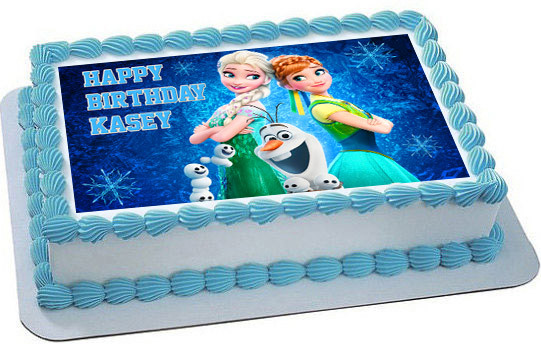 Frozen Fever Elsa Anna Edible Birthday Cake Topper