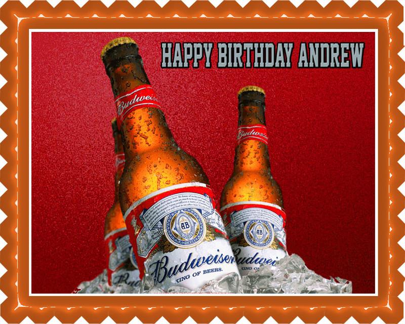 Beer bottles budweiser 2 edible birthday cake topper - Budweiser beer pictures ...