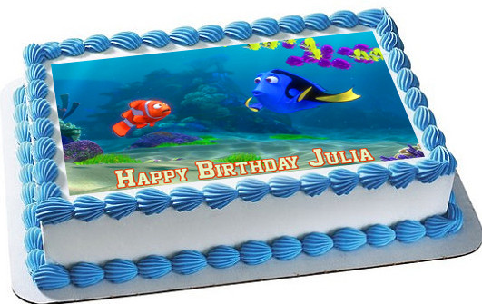Finding Dory Edible Birthday Cake Topper