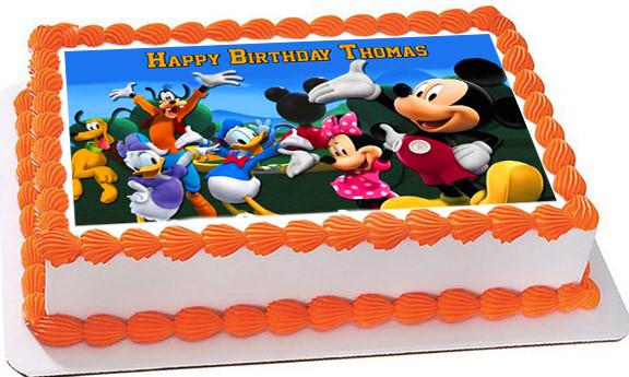 Mickey Mouse Clubhouse Edible Cake Images : Mickey Mouse Clubhouse 4 Edible Birthday Cake Topper