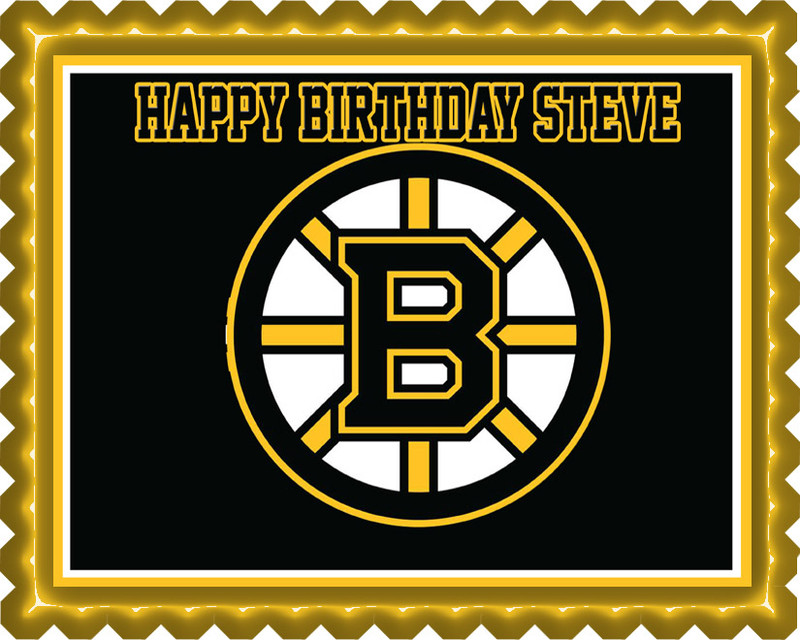 Bruins Edible Cake Toppers