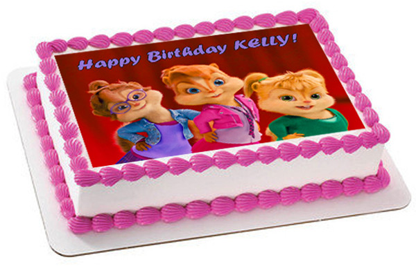 ALVIN AND THE CHIPMUNKS ROAD CHIP 5 Edible Birthday Cake Topper